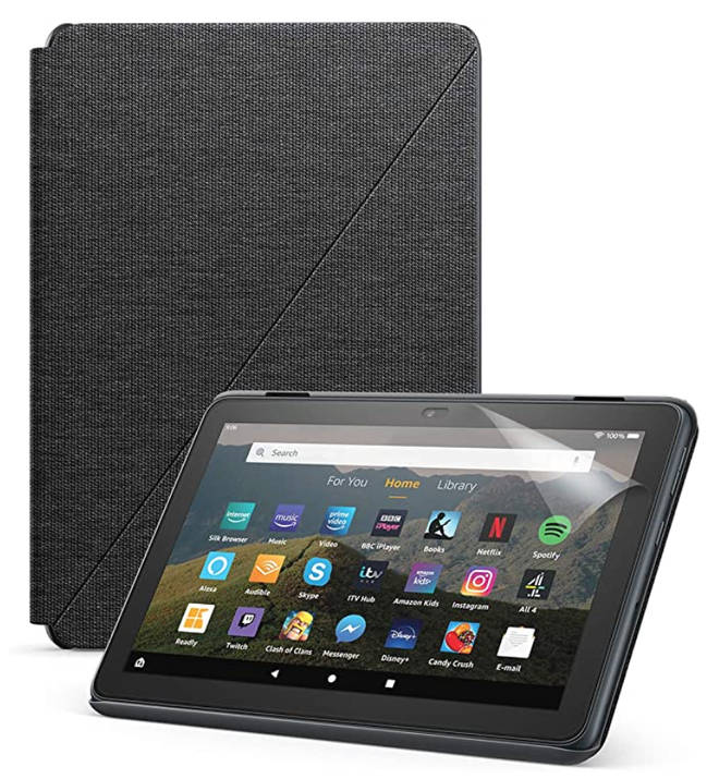 Amazon Fire HD8 + Standing Case & Screen Protector