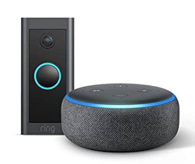 Amazon Ring Doorbell Wired + Echo Dot (3rd Gen)