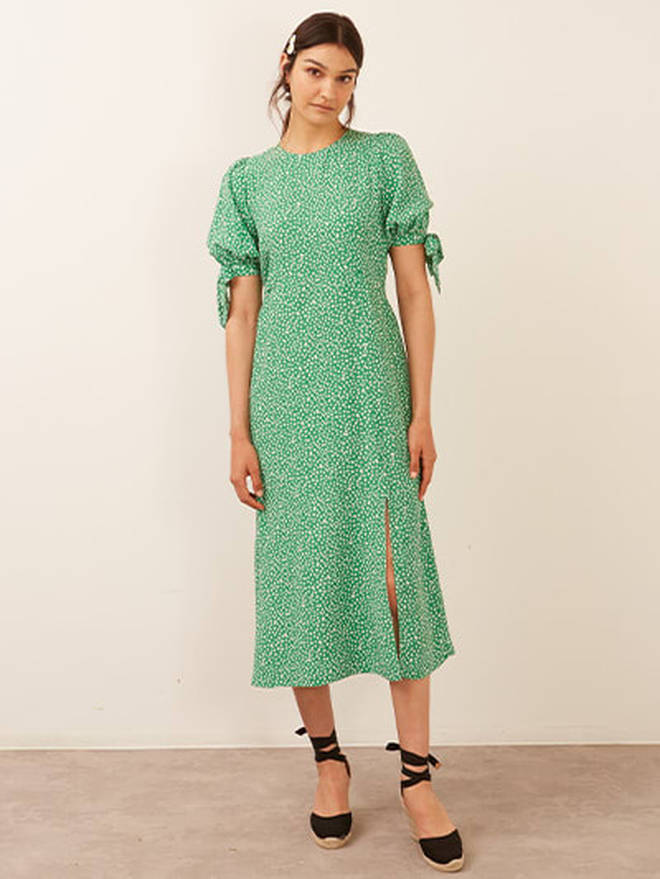 Holly Willoughby is wearing a green midi dress from Nobody's Child