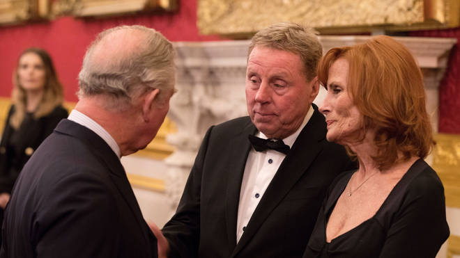 Harry Redknapp and his wife Sandra with the Prince of Wales
