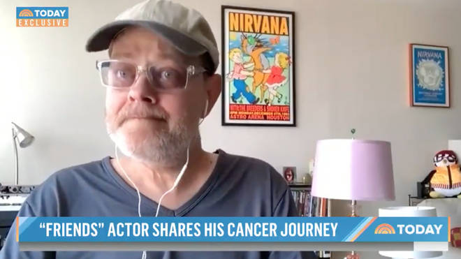 James Michael Tyler was emotional as he told the show about his three year battle