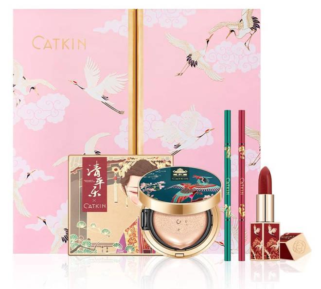 CATKIN Makeup Set Lipstick Eyeshadow Pallete Cushion Foundation Eyebrow Pencil Collection
