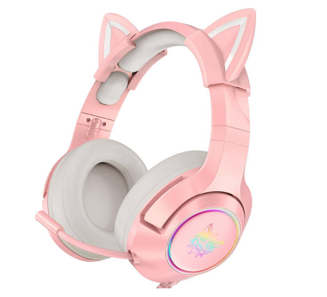 ONIKUMA Pink Gaming Headset