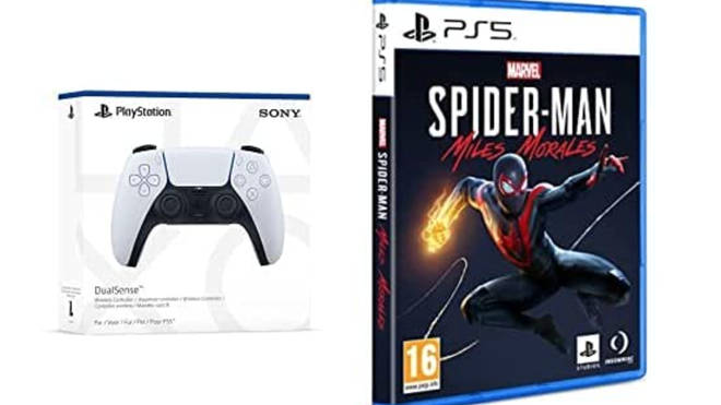 PlayStation 5 DualSense Wireless Controller + Marvel's Spider-Man: Miles Morales