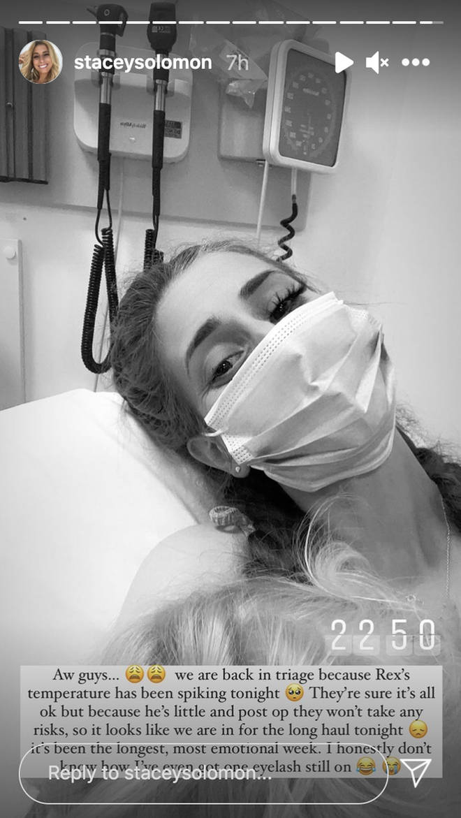 Stacey Solomon shared an update from hospital
