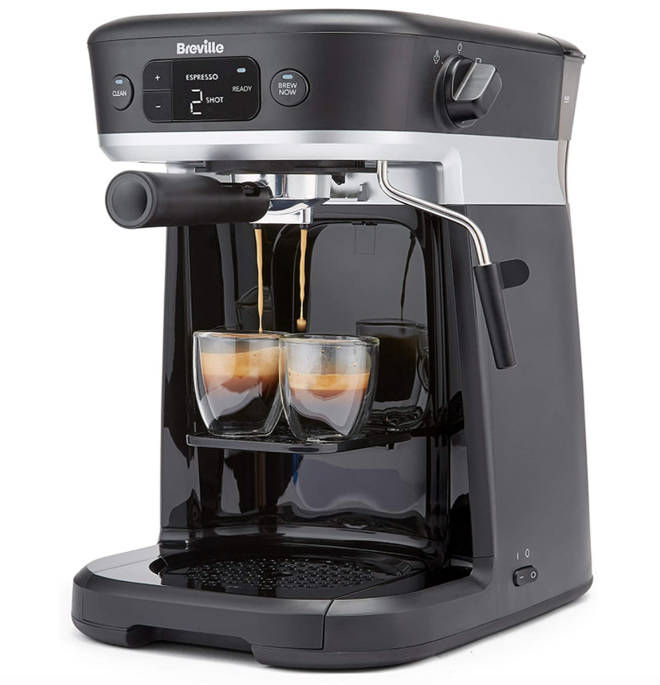 Breville All-in-One Coffee House, Espresso, Filter and Pods Coffee Machine