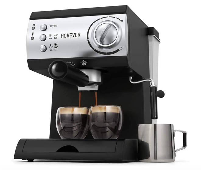 Homever Pump Espresso Coffee Machine with Milk Steamer