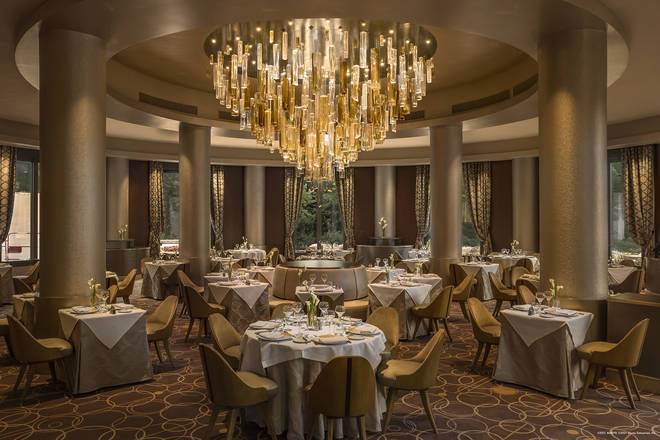 The Manhattan Restaurant is one of many dining experiences at the hotel