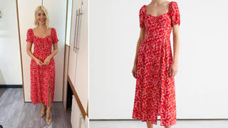 Holly Willoughby is wearing a red dress from & Other Stories