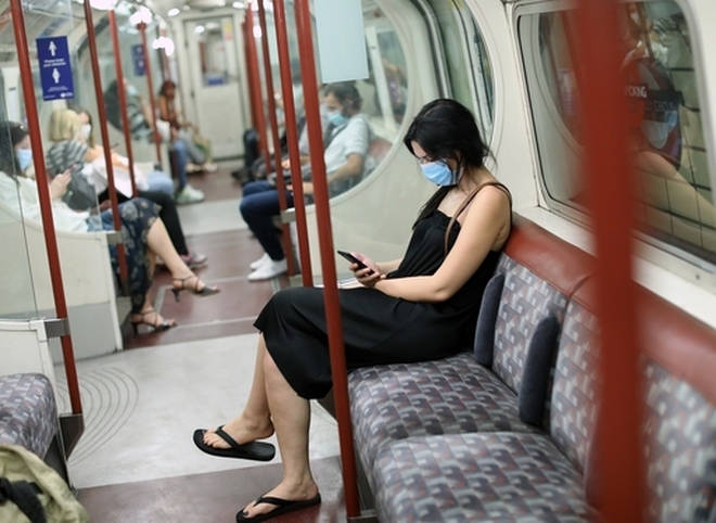 Face masks are currently mandatory in places like tubes and supermarkets