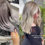 A hairdresser has gone viral after sharing her transformation online