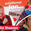 Ed Sheeran surprises a young fan