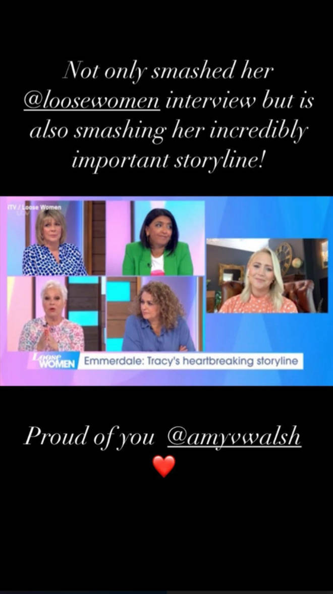 Toby-Alexander Smith sent Amy Walsh a sweet message