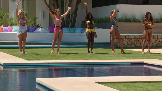 The first five Love Island girls can be seen getting ready to pick their men in this teaser picture
