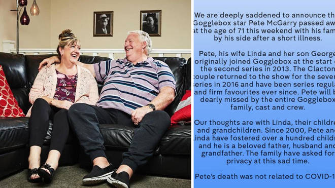 Pete McGarry has sadly died