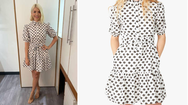 Holly Willoughby is wearing a dress from Kate Spade