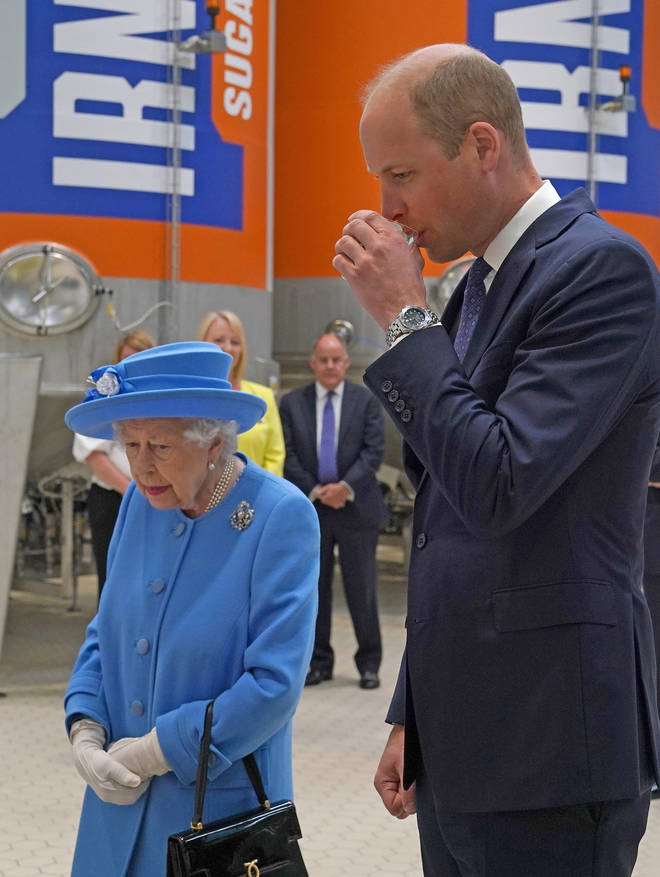 Prince William joined his grandmother during the first day of the tour