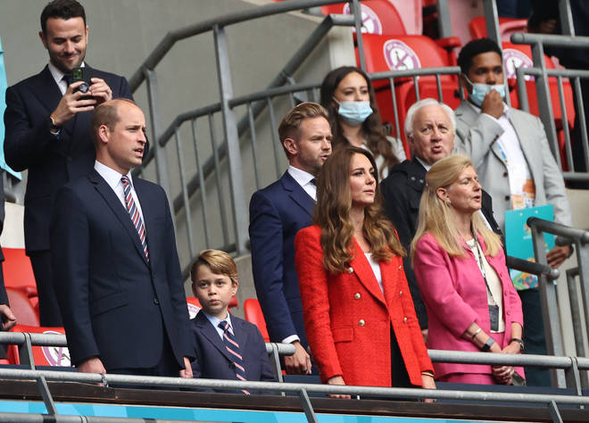 Prince George didn't look too impressed while the crowd sang the national anthem