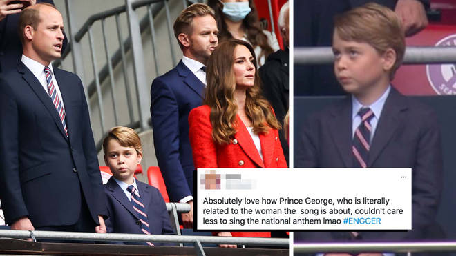 Prince George stole the show last night as he attended the England match at Wembley Stadium
