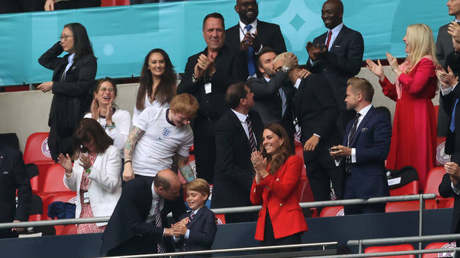 The royals celebrated England's win when the match ended