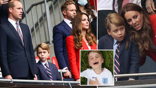 Prince George was suited and booted for the England versus Germany game