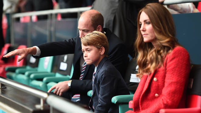 Prince George joined Kate and William in the royal box on Tuesday night