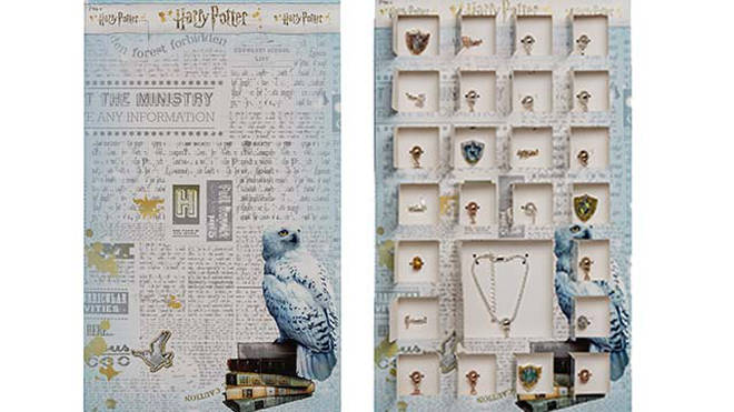 Behind 24 doors are some magical charms that are collected to make a Harry Potter charm bracelet