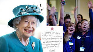 The Queen has penned a letter to the NHS