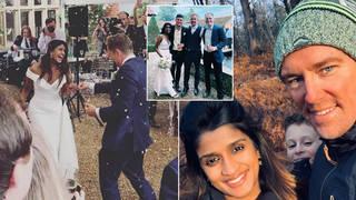 Simon Thomas has married Derrina Jebb