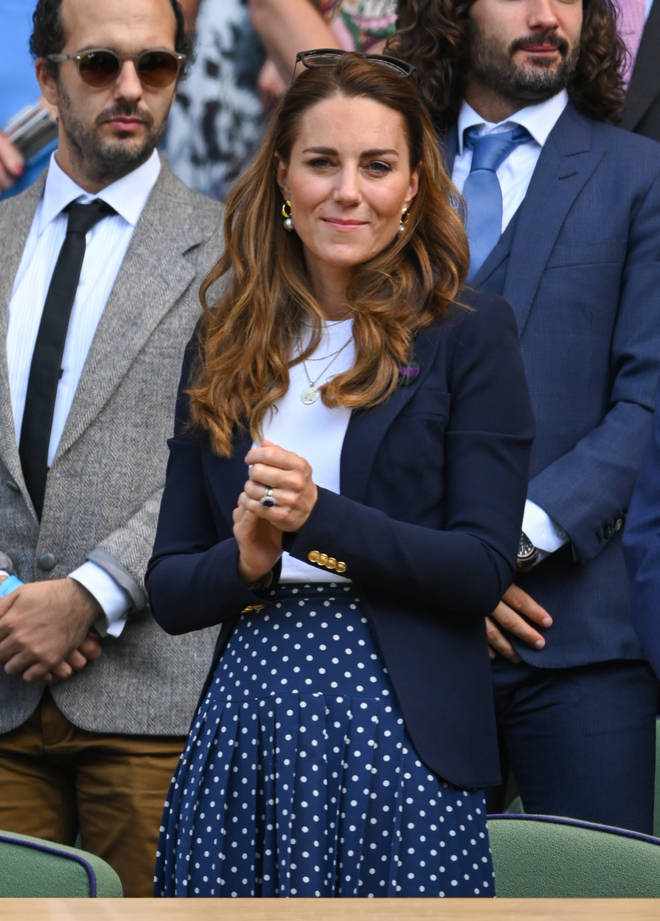 Kate Middleton was at Wimbledon on Friday to watch Dan Evans play