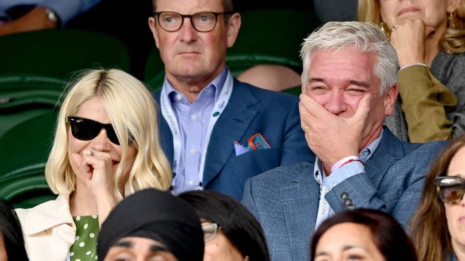 Holly and Phil sat next to one another at Wimbledon on Friday, but have to continue to distance while on This Morning