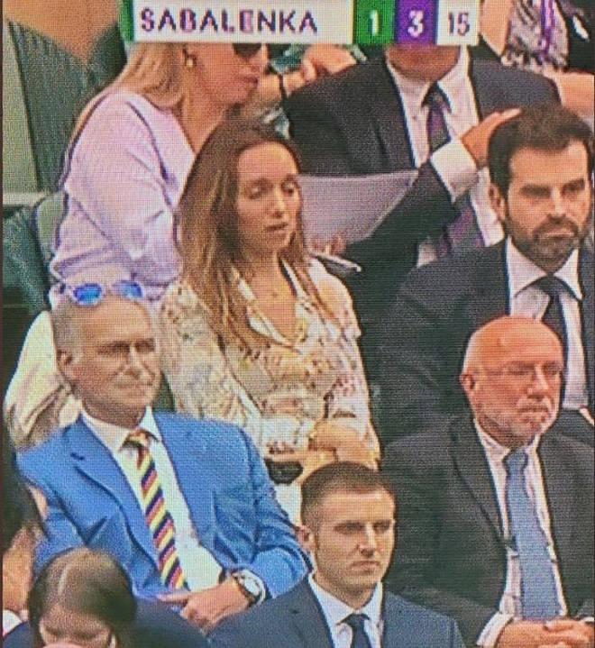 Dr Hilary sat in the Royal box at Wimbledon this week