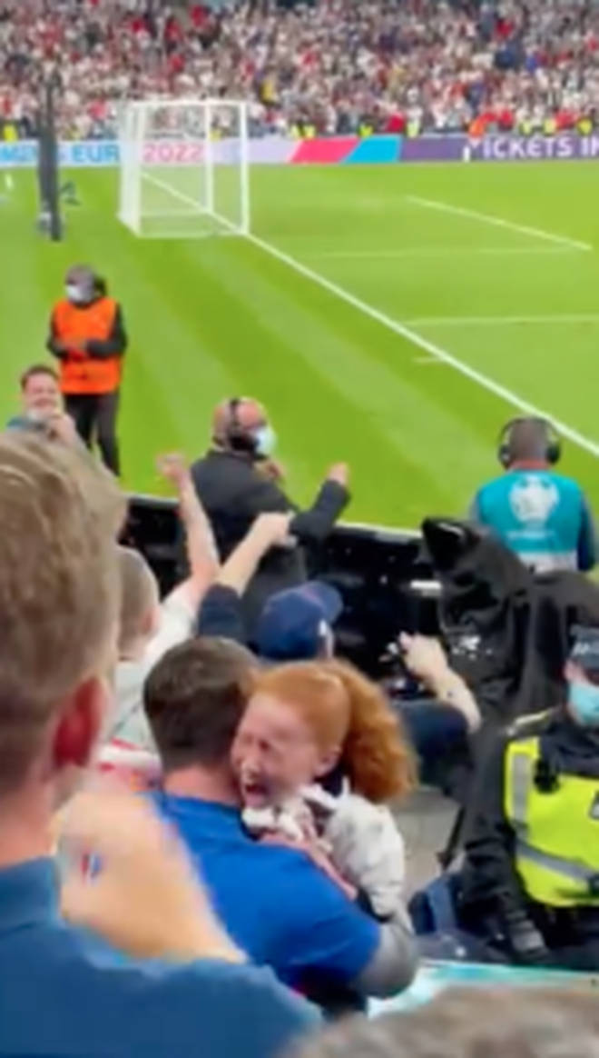 The little girl screamed as Mount handed her his football shirt shortly after winning to Denmark