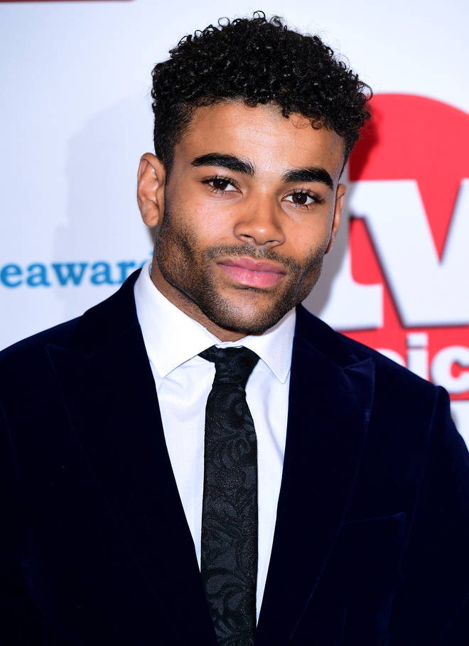 Malique Thompson-Dwyer on the soaps red carpet