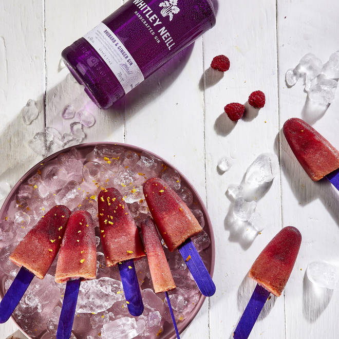 These fruity ice pops would be perfect to serve guests at a BBQ