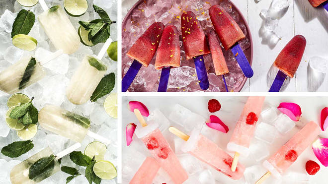 We've got some brilliant recipes for boozy ice lollies