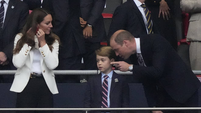 Prince George attended the Euros 2020 final with his mum and dad