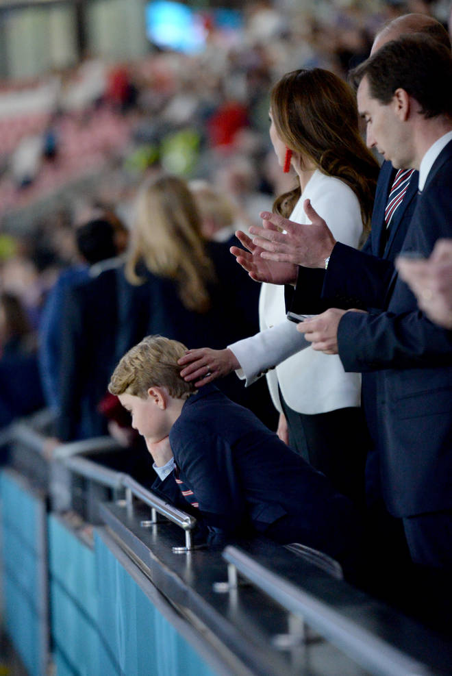 Prince George was comforted by Kate Middleton after England's defeat
