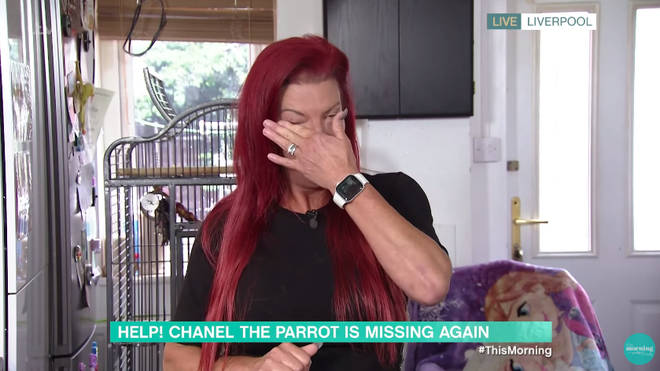 Sandra emotionally made a plea to anyone in the Liverpool area to look out for her beloved parrot