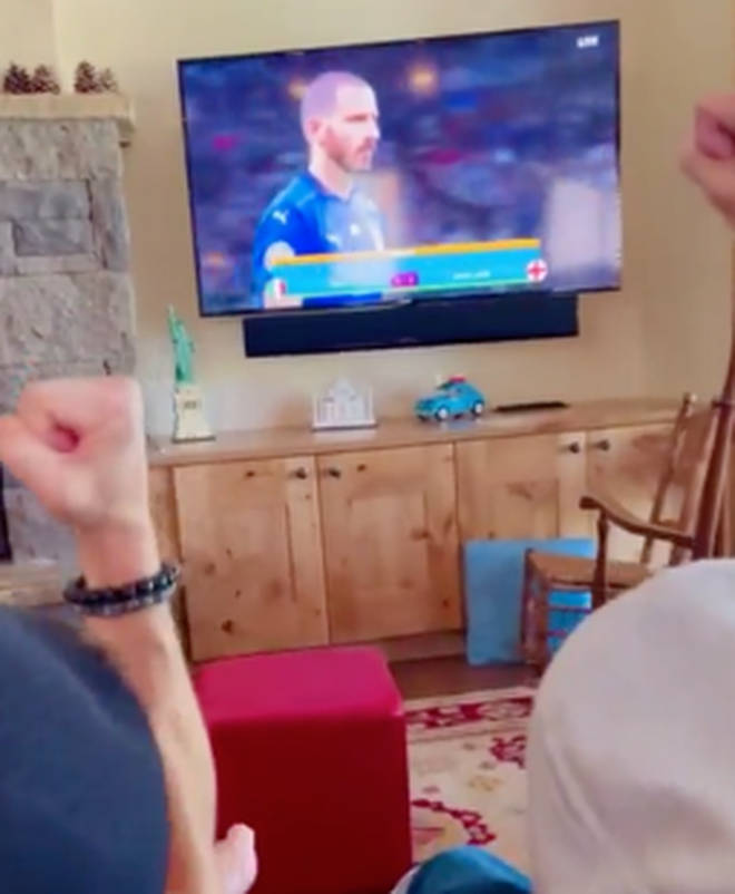 Zac and his grandpa sat down and watched the Euros final together at the end of the video