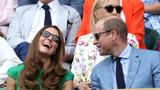 Kate and William couldn't stop laughing and joking together as they watched the tennis