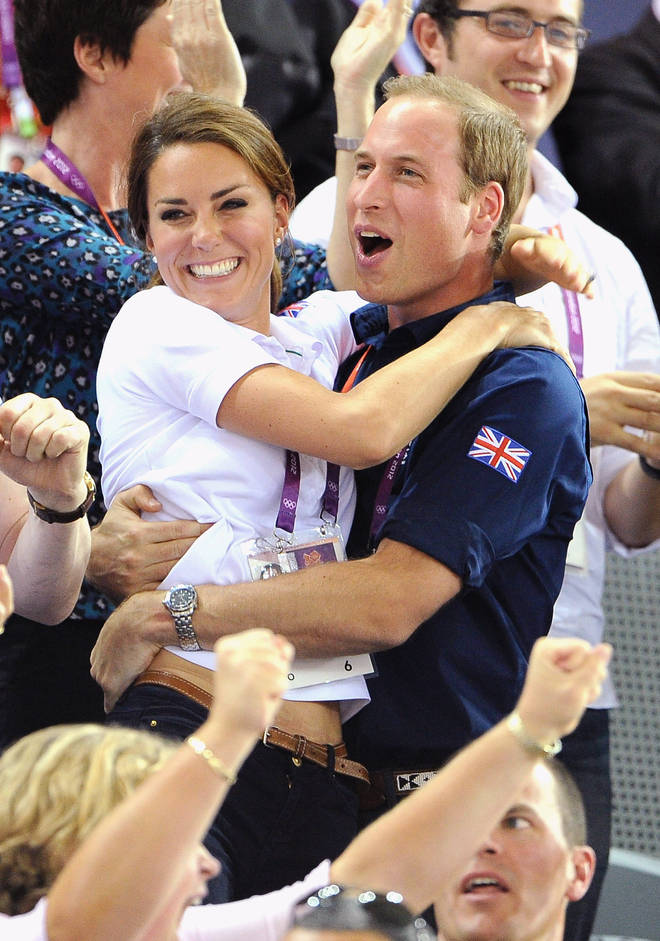 William and Kate celebrate in the crowd of the Olympics back in 2012