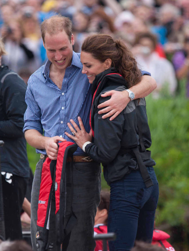 William and Kate share a sweet embrace during a royal trip to Canada