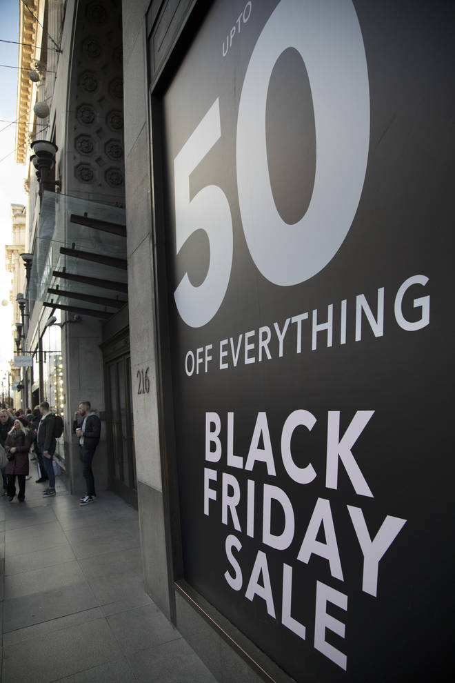 Black Friday Retail Shop Sign