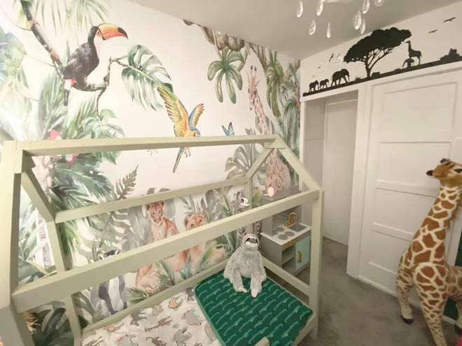 She gave her youngest a jungle-themed bedroom