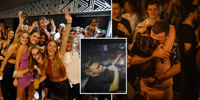Clubbers were keen to get back onto the dance floor