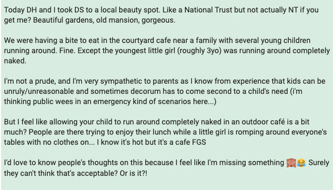 The original post on Mumsnet sparked a lively debate