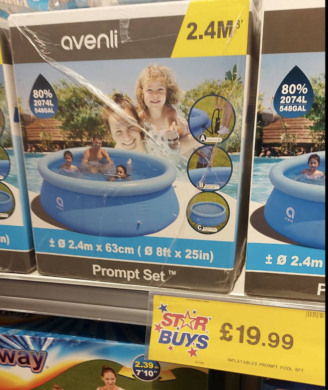 The pools have been spotted in Home Bargains