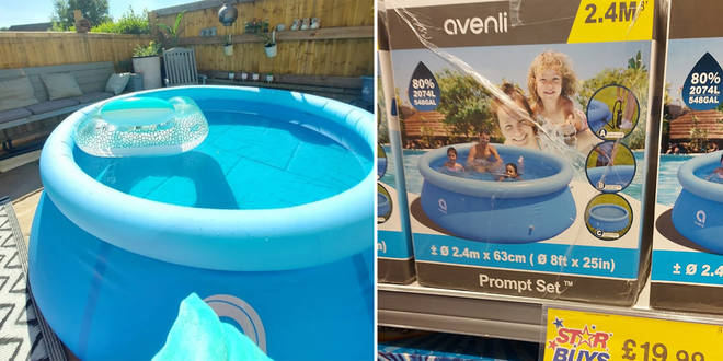 The inflatable pool was shared to a bargains Facebook group