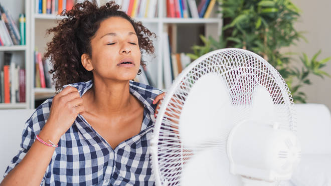 Fans can be more effective if they are set to move anti-clockwise